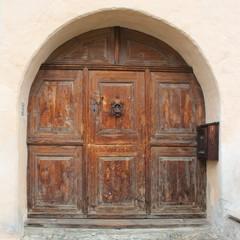 Traditionelle Engadiner Türe