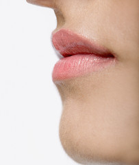 Close up of Indian woman's mouth