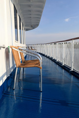 Armchair on a deck of ship