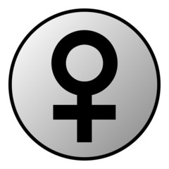 Gender female symbol button