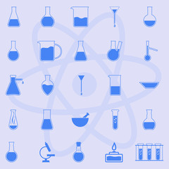 Laboratory glassware and equipment.