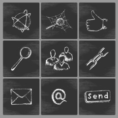 Sketch social network icons