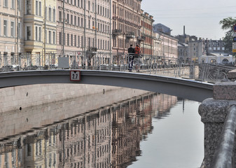 Morning on Griboyedov Canal. St. Petersburg, Russia