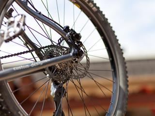 Scheibenbremse von einem Fahrrad