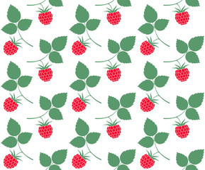 Raspberries. Pattern