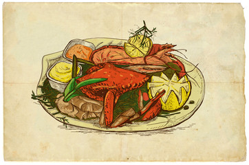 From the series food: Seafood (with Crab)