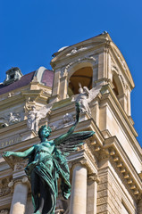 Statue of an angel with laurel wreath, Art museum in Vienna