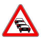 sign traffic congestion - Symbol Stau - g928 poster