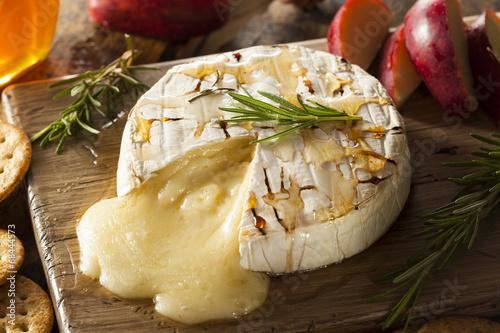 Fototapeta Homemade Baked Brie with Honey