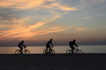 cycling trip to the beach
