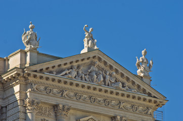 Historical and Mythological details at Hofburg palace in Vienna