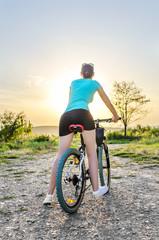 Moutain bike woman