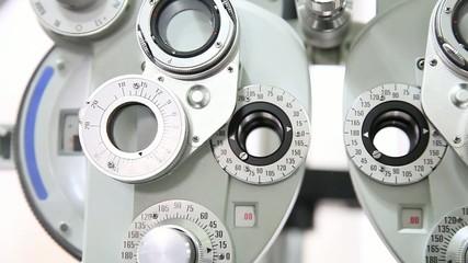 Optometrist instrument detail
