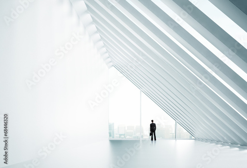 businessman in big office