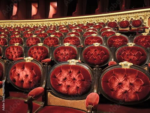 Leinwanddruck Bild Fauteuil Opéra Paris
