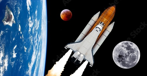 canvas print picture Space Shuttle Rocket Spaceship