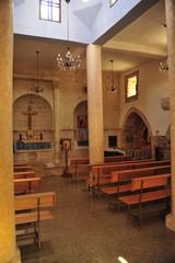 Inside the Church in Bar'am National Park, Israel