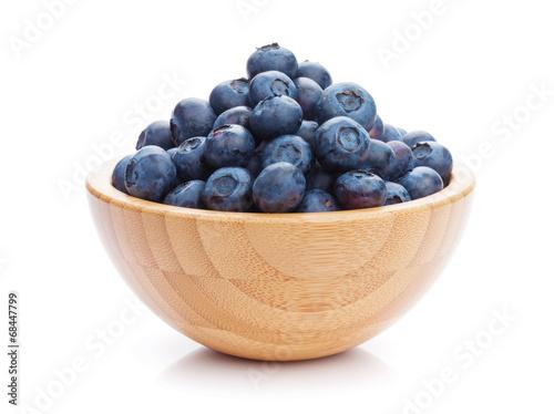 Fotobehang Vruchten Blueberries in bowl