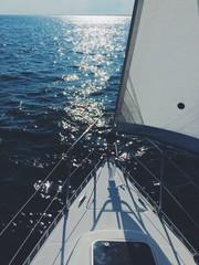 In barca per il Mar Mediterraneo