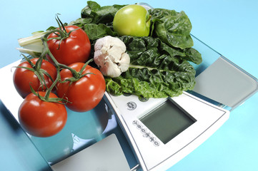 Healthy diet and weight loss concept