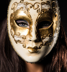 Colorful Venetian carnival mask