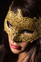 Colorful Venetian carnival mask