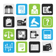 Silhouette Stock exchange and finance icons