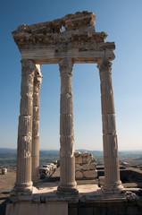 Temple of Trajan at Pergamos in Izmir, Turkey