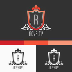 Royalty Crest Ornament. Modern Vector Design