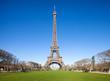 canvas print picture - Eiffelturm in Paris