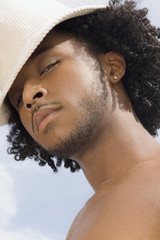 African man with hat