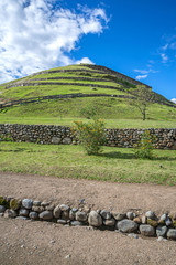 View of the Incan ruins of Pumapungo