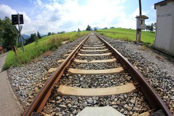 Bahngleise im Sommer