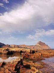 Spiaggia di Macari e monte Cofano all'orizzonte