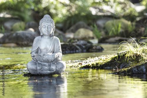 Deurstickers Standbeeld Bouddha et Bien-être