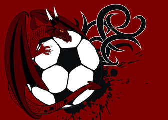 dragon crest coat of arms soccer background5