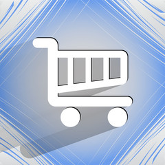 Shopping basket. Flat modern web design on a flat geometric