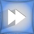 multimedia control. Flat modern web design on a flat geometric