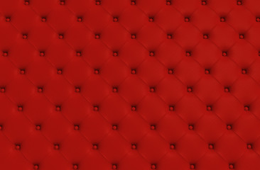 the red texture of the skin quilted sofa