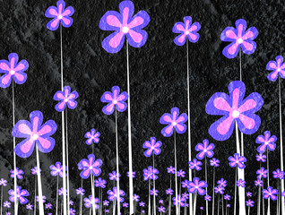 Flower Abstract on wall texture background design