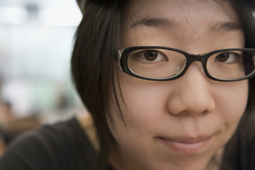Close up of Japanese woman