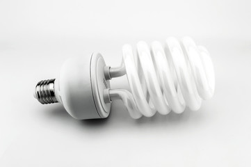 energy saving bulb isolate on white background