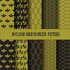 classic gold pattern set