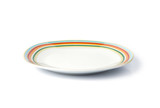 Empty plate isolated on a white background - 68460199