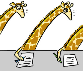 cartoon color animal expression giraffe copy