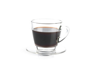 A Cup of coffee isolated on white background