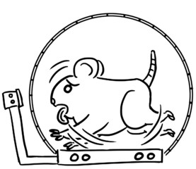 cartoon line animal expression hamster exercise