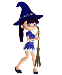 Cute 3d Witch