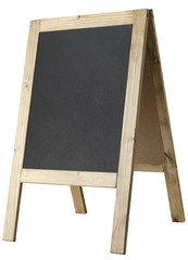 A-frame Blackboard Side View - Isolated