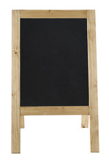 A-Frame Blackboard Isolated on White